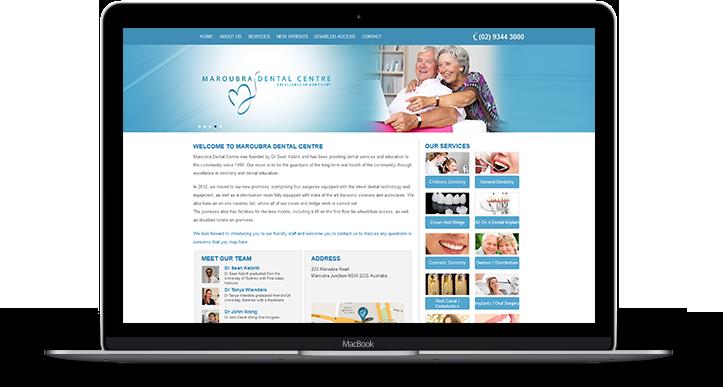 Dentist Website Design Sydney