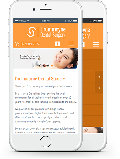 Mobile Dentist Web Design